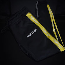 Load image into Gallery viewer, Unisex Track Pants ( Black/Yellow/White )