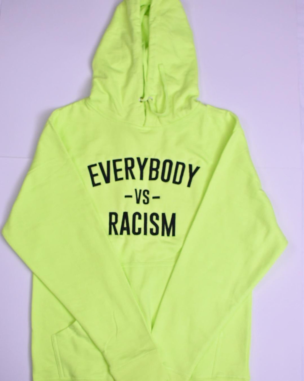 Safety Yellow Hoodie ( EveryBody Vs Racism )