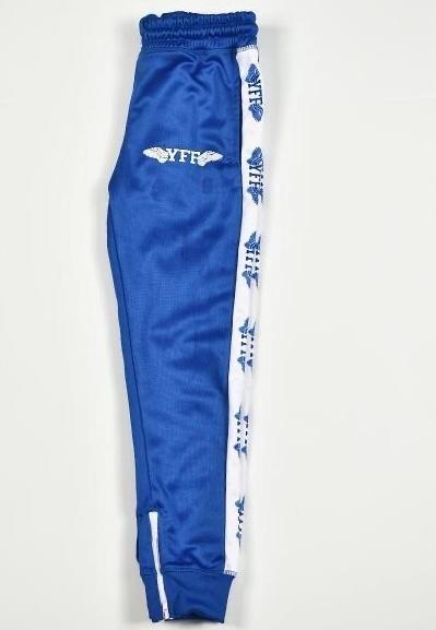Royal Blue Nipsey Adult  Unisex YFF  ( Young Fly Fla$hy ) Tracksuit Pants