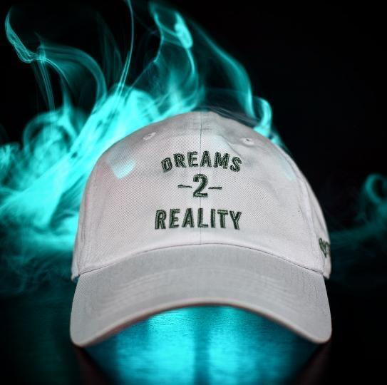 YFF Dreams 2 Reality Dad Hat White & Forest Green