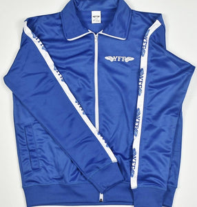 Kids Track Suit Top YFF Royal Blue & White ( Young Fly Fla$hy )