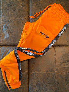 "YFF Tracksuit Pants "" Orange Black & White """
