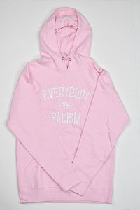 EveryBody Vs Racism Adult Pink And White Hoodie