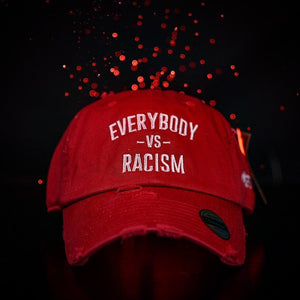 Red & White YFF Everybody Vs Racism Dad Hat