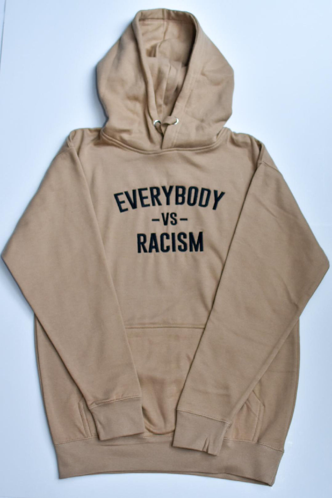YFF Tan & Black Everybody Vs Racism Hoodie