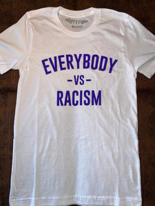 "YFF "" Everybody Vs Racism "" T-Shirt White & Purple"