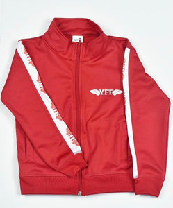 Red & White YFF ( Young Fly Flashy ) Kids Track Suit Top