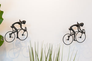 2 piece 3D Sculpture Bicycle Wall Art Gift For Home Decor Interior Design UNIQUE AND AMAZING floating Couple Ladies Black