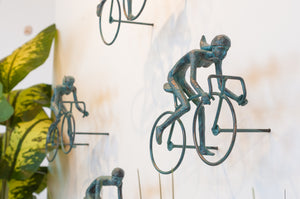 4 piece 3D Sculpture Bicycle Wall Art Gift For Home Decor Interior Design UNIQUE AND AMAZING floating 2 Couple Bronze