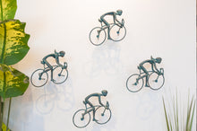 Load image into Gallery viewer, 4 piece 3D Sculpture Bicycle Wall Art Gift For Home Decor Interior Design UNIQUE AND AMAZING floating 2 Couple Bronze