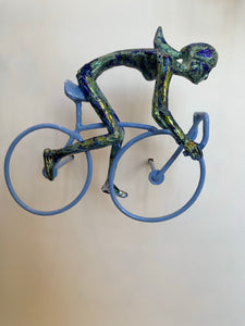 6 piece 3D Sculpture Bicycle Wall Art Gift For Home Decor Interior Design UNIQUE AND AMAZING floating 2 Couple Bronze