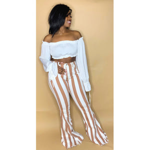 Stripe Me Down Bell Bottoms - Label Me Myaj