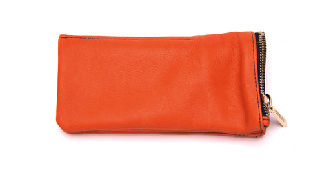 LEATHER POUCH-Orange