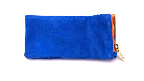 LEATHER POUCH-Royal Orange Suede