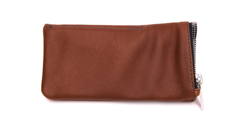 LEATHER POUCH-Whiskey