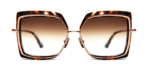 NARCISSUS-Cream Tortoise /­ Rose Gold / Dark Brown to Clear
