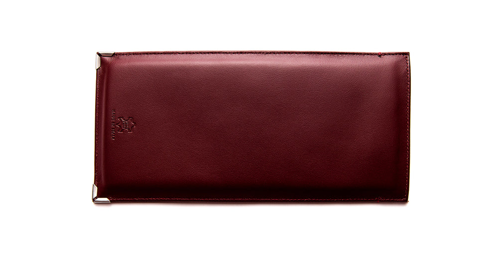 JACQUES MARIE MAGE SOFT POUCH GENUINE LEATHER-Burgundy