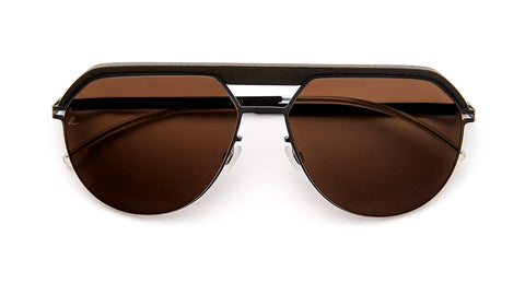 ML02-522-Safari Green / Graphite / Leica  Brown Polarized