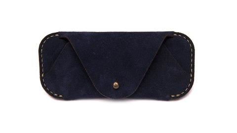 EYEWEAR SLEEVE-Navy Suede