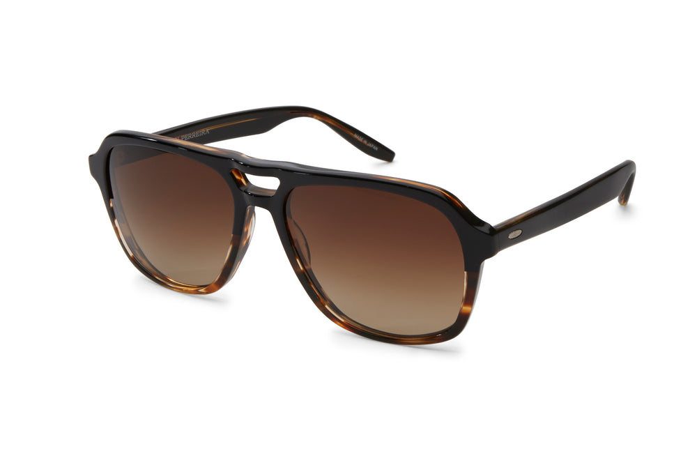 MODERNIST-Raven Tortoise Gradient / Old English Polarized
