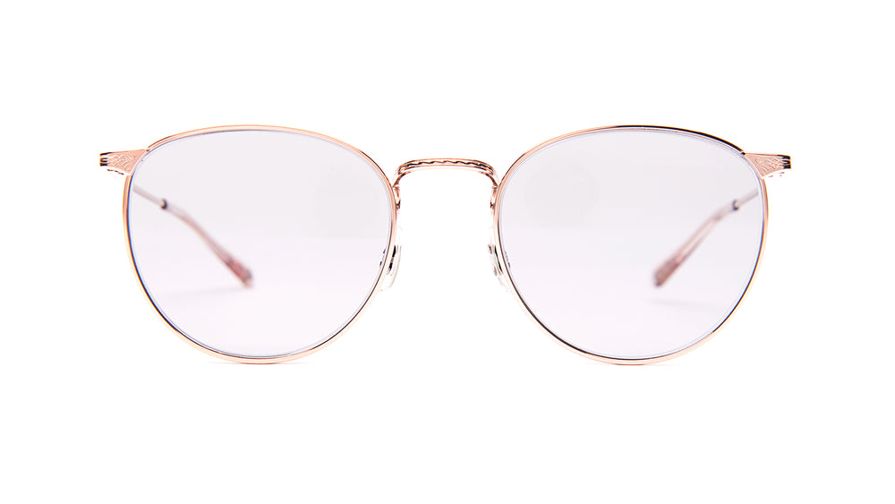 BROWER-Rose Gold / Grey Glass