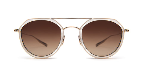 DIBERGI-White Gold / White Cloud / Brown Gradient Polarized