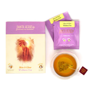 Skin & Glow Wellness Tea - 15 Pyramid Teabag