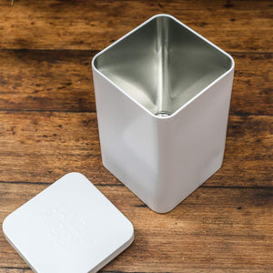 White Tin Container - Danta Herbs Tea