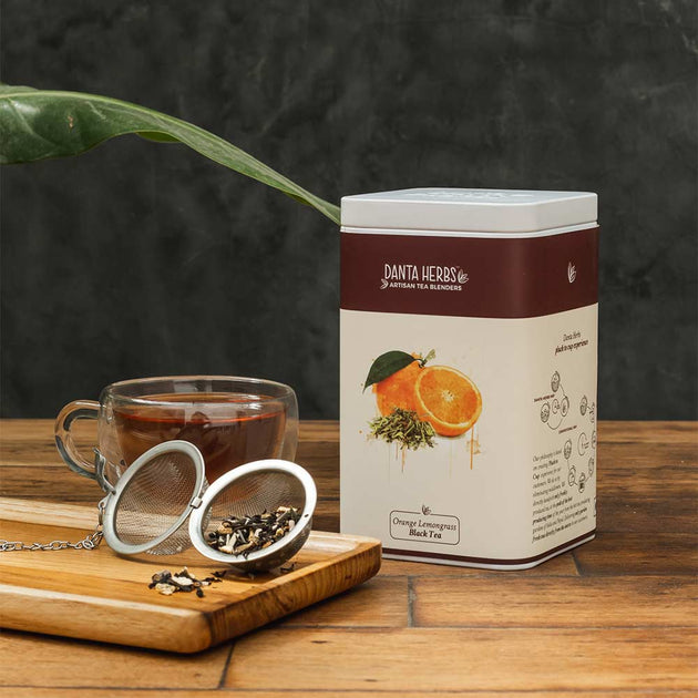 Orange Lemongrass Black Tea - Tin Caddy