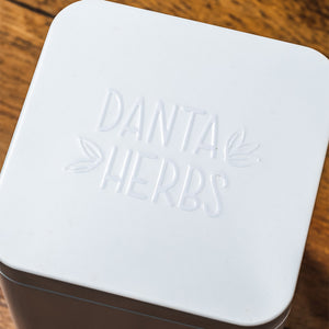 Danta Herbs Tea Online -White Tin Container
