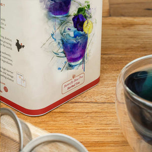 Butterfly Blue Pea Herbal Tea - 100 G Tin Caddy