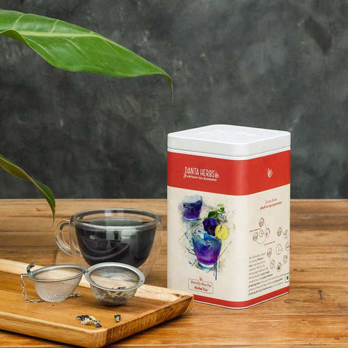 Butterfly Blue Pea Herbal Tea - Tin Caddy