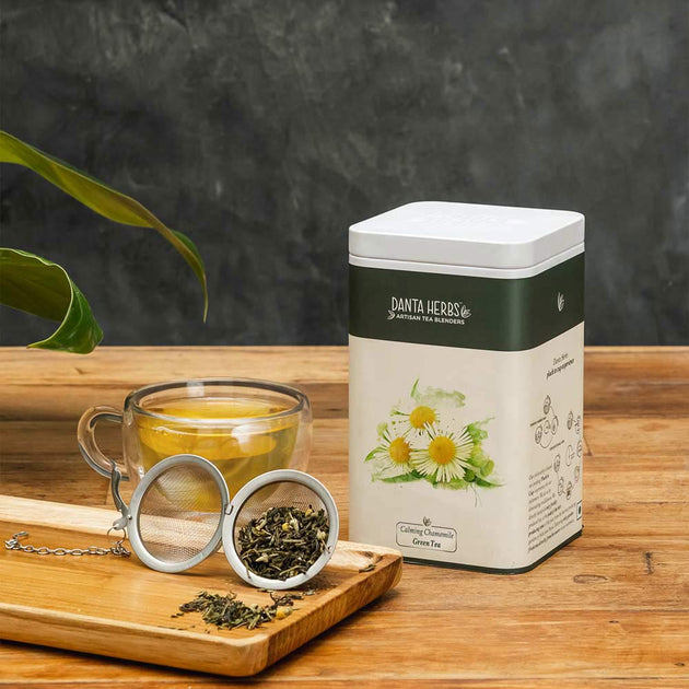 Calming Chamomile Green Tea - Tin Caddy