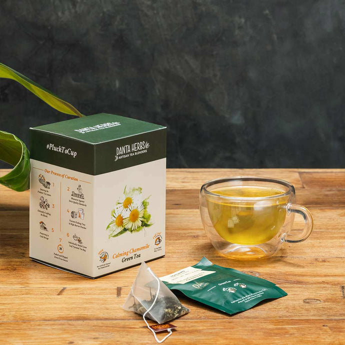 Calming Chamomile Green Tea - Pyramid Teabag