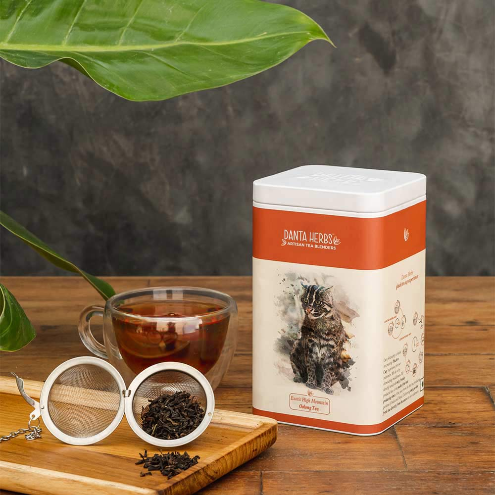 Exotic High Mountain Oolong Tea - Tin Caddy