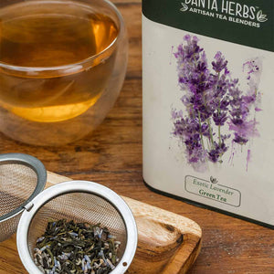 Exotic Lavender Green Tea - 100 G Tin Caddy