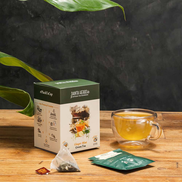Ginger Mint Green Tea - Pyramid Teabag