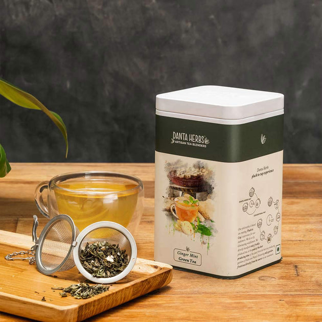 Ginger Mint Green Tea - Tin Caddy