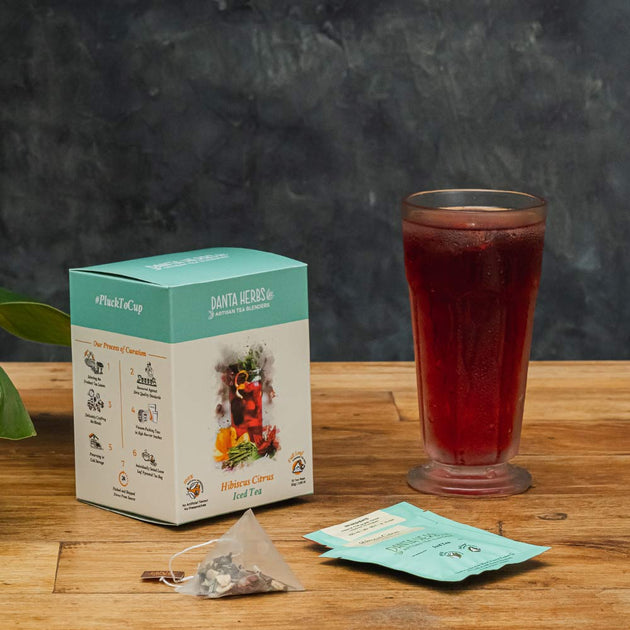 Hibiscus Citrus Iced Tea - Pyramid Teabag