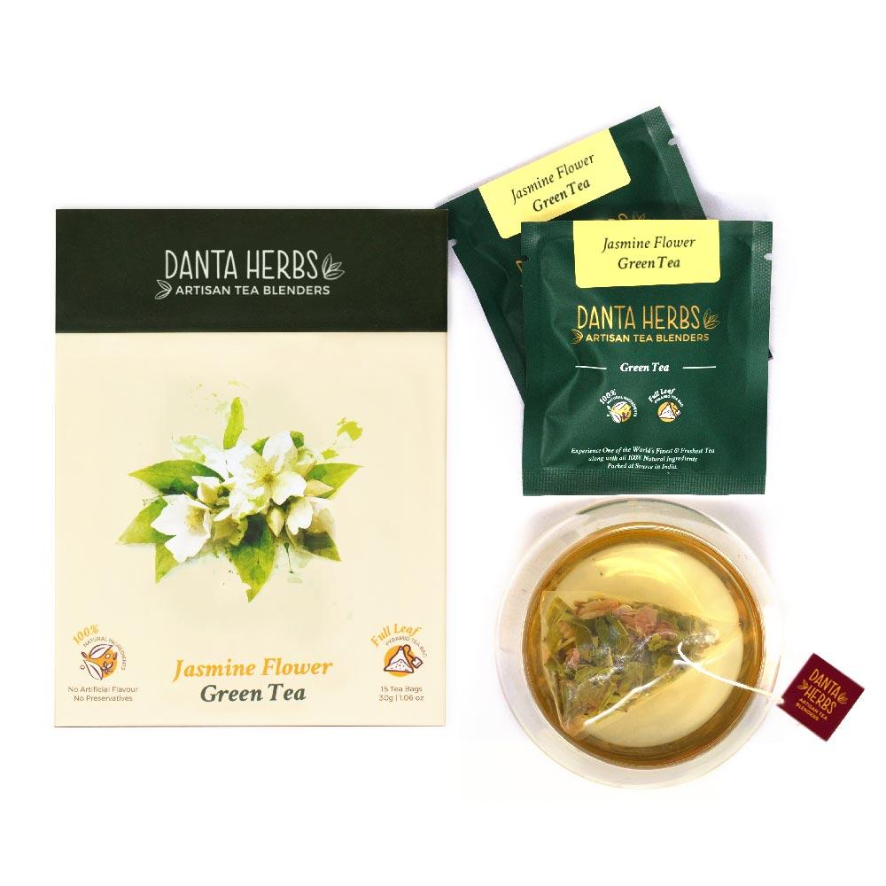 Jasmine Flower Green Tea - Danta Herbs, Green Tea - tea
