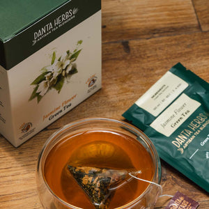 Jasmine Flower Green Tea - Pyramid Teabag