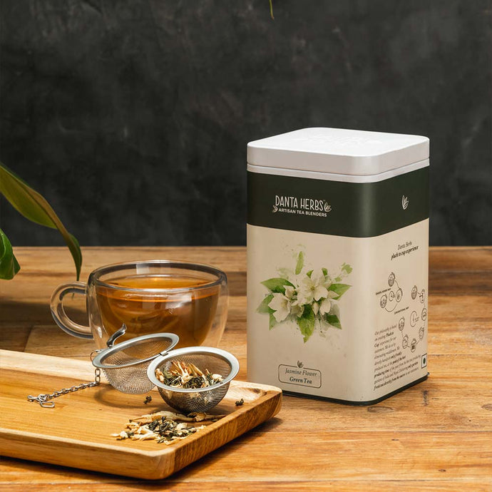 Jasmine Flower Green Tea - Tin Caddy
