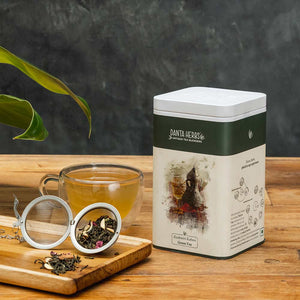 Kashmiri Kahwa Green Tea - 100 G Tin Caddy