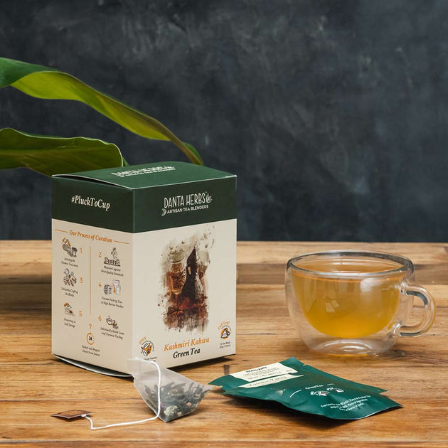 Kashmiri Kahwa Green Tea - Pyramid Teabag