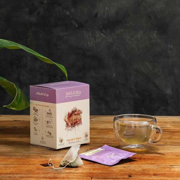 Nourish & Digest Wellness Tea -15 Pyramid Teabag