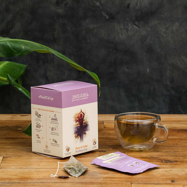Peace & Calm Wellness Tea -15 Pyramid Teabag