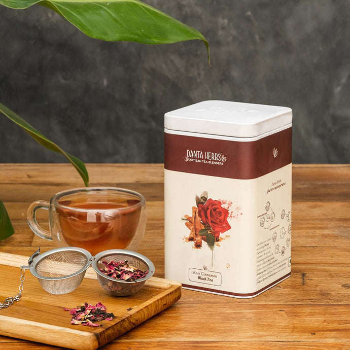Rose Cinnamon Black Tea - Tin Caddy