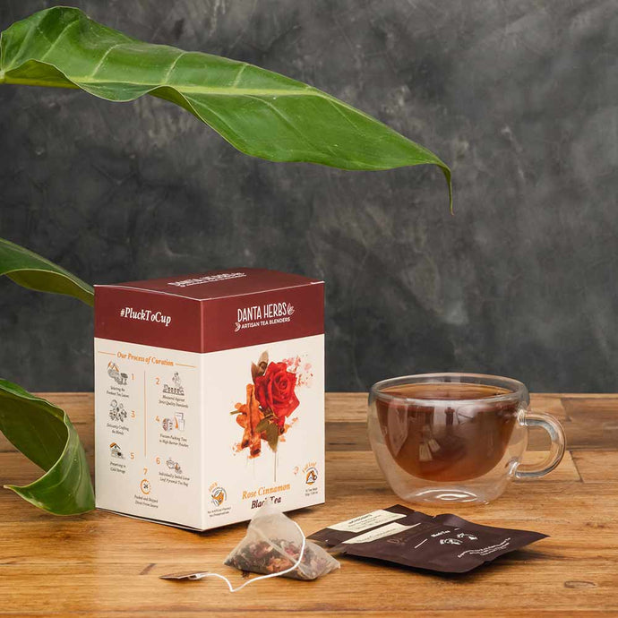 Rose Cinnamon Black Tea - Pyramid Teabag