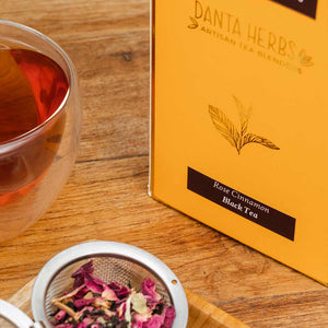 Online Buy - Rose Cinnamon Black Tea - Danta Herbs, Black Tea - tea