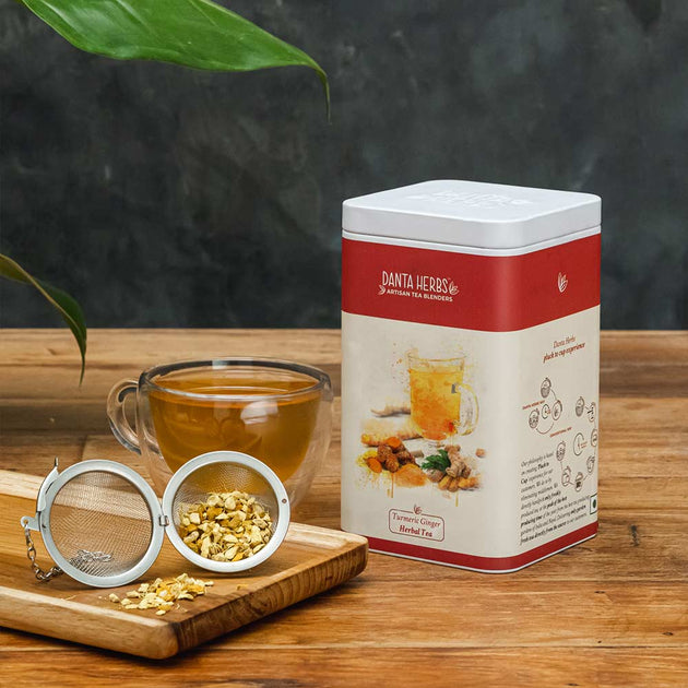 Turmeric Ginger Herbal Tea - Tin Caddy